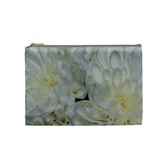 White Flowers 2 Cosmetic Bag (Medium)