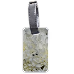 White Flowers 2 Luggage Tags (Two Sides)