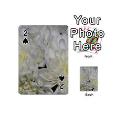 White Flowers 2 Playing Cards 54 (mini)