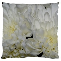 White Flowers 2 Large Cushion Cases (One Side)