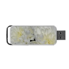 White Flowers 2 Portable Usb Flash (two Sides)