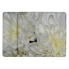 White Flowers 2 Samsung Galaxy Tab 10.1  P7500 Flip Case