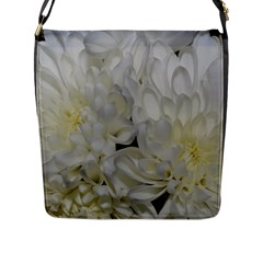 White Flowers 2 Flap Messenger Bag (L)