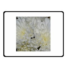 White Flowers 2 Double Sided Fleece Blanket (small)