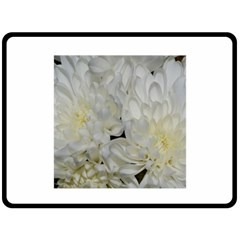 White Flowers 2 Double Sided Fleece Blanket (large)