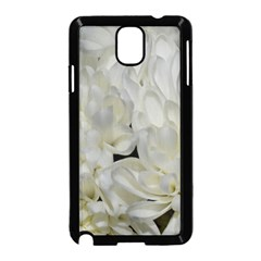 White Flowers 2 Samsung Galaxy Note 3 Neo Hardshell Case (Black)