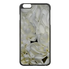 White Flowers 2 Apple iPhone 6 Plus/6S Plus Black Enamel Case