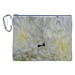 White Flowers 2 Canvas Cosmetic Bag (XXL)