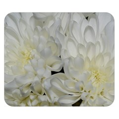 White Flowers 2 Double Sided Flano Blanket (small)
