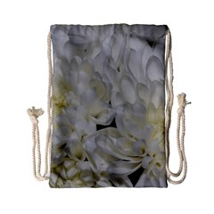 White Flowers 2 Drawstring Bag (small)
