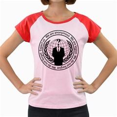 Anonymous Seal  Women s Cap Sleeve T-Shirt