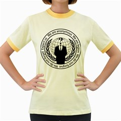 Anonymous Seal  Women s Fitted Ringer T Shirts