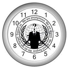 Anonymous Seal  Wall Clocks (Silver)
