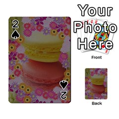 Macaroons and Floral Delights Playing Cards 54 Designs