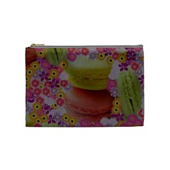 Macaroons And Floral Delights Cosmetic Bag (medium)