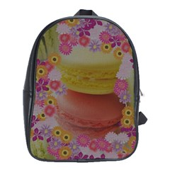 Macaroons and Floral Delights School Bags (XL)