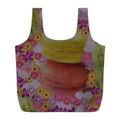 Macaroons and Floral Delights Full Print Recycle Bags (L)