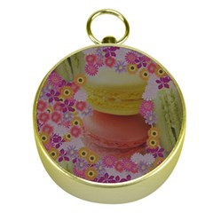 Macaroons And Floral Delights Gold Compasses