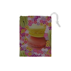 Macaroons and Floral Delights Drawstring Pouches (Small)