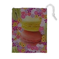 Macaroons and Floral Delights Drawstring Pouch (XL)