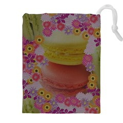Macaroons and Floral Delights Drawstring Pouch (XXL)