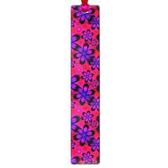Neon Retro Flowers Pink Large Book Marks