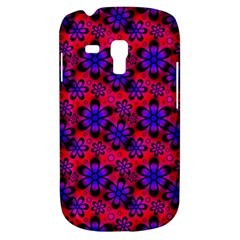 Neon Retro Flowers Pink Samsung Galaxy S3 MINI I8190 Hardshell Case