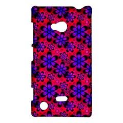 Neon Retro Flowers Pink Nokia Lumia 720