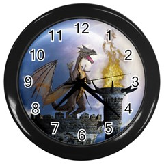 Dragon Land 2 Wall Clock (black)