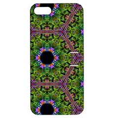 Repeated Geometric Circle Kaleidoscope Apple iPhone 5 Hardshell Case with Stand