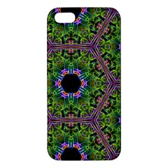 Repeated Geometric Circle Kaleidoscope Apple iPhone 5 Premium Hardshell Case