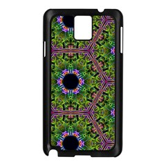 Repeated Geometric Circle Kaleidoscope Samsung Galaxy Note 3 N9005 Case (Black)