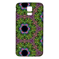 Repeated Geometric Circle Kaleidoscope Samsung Galaxy S5 Back Case (White)