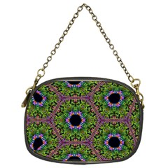 Repeated Geometric Circle Kaleidoscope Chain Purses (Two Sides)