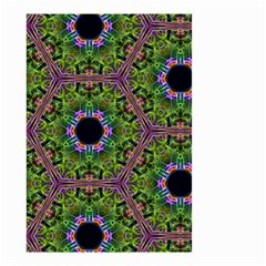 Repeated Geometric Circle Kaleidoscope Small Garden Flag (Two Sides)