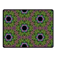 Repeated Geometric Circle Kaleidoscope Double Sided Fleece Blanket (small)