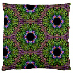 Repeated Geometric Circle Kaleidoscope Large Flano Cushion Cases (one Side)