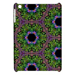 Repeated Geometric Circle Kaleidoscope Apple iPad Mini Hardshell Case