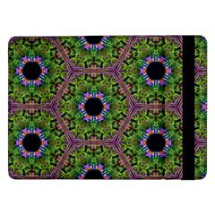 Repeated Geometric Circle Kaleidoscope Samsung Galaxy Tab Pro 12 2  Flip Case