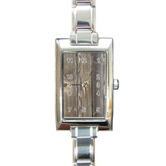 Wood Fence Rectangle Italian Charm Watches
