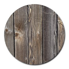 Wood Fence Round Mousepads