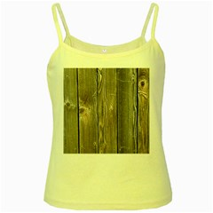 Wood Fence Yellow Spaghetti Tanks