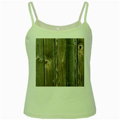 Wood Fence Green Spaghetti Tanks