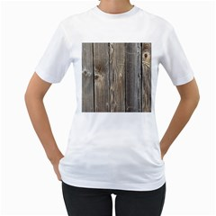 Wood Fence Women s T Shirt (white) (two Sided)