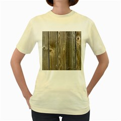 Wood Fence Women s Yellow T Shirt