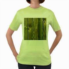 Wood Fence Women s Green T Shirt