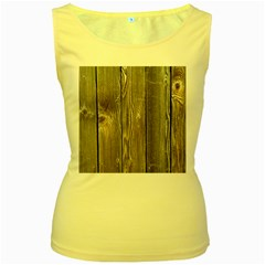 Wood Fence Women s Yellow Tank Tops