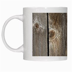 Wood Fence White Mugs