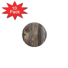 Wood Fence 1  Mini Magnet (10 Pack)