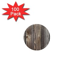 Wood Fence 1  Mini Magnets (100 Pack)